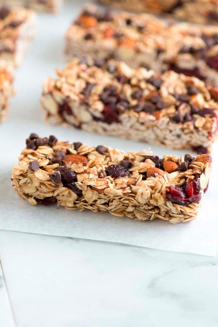 Barritas de granola: snacks sanos