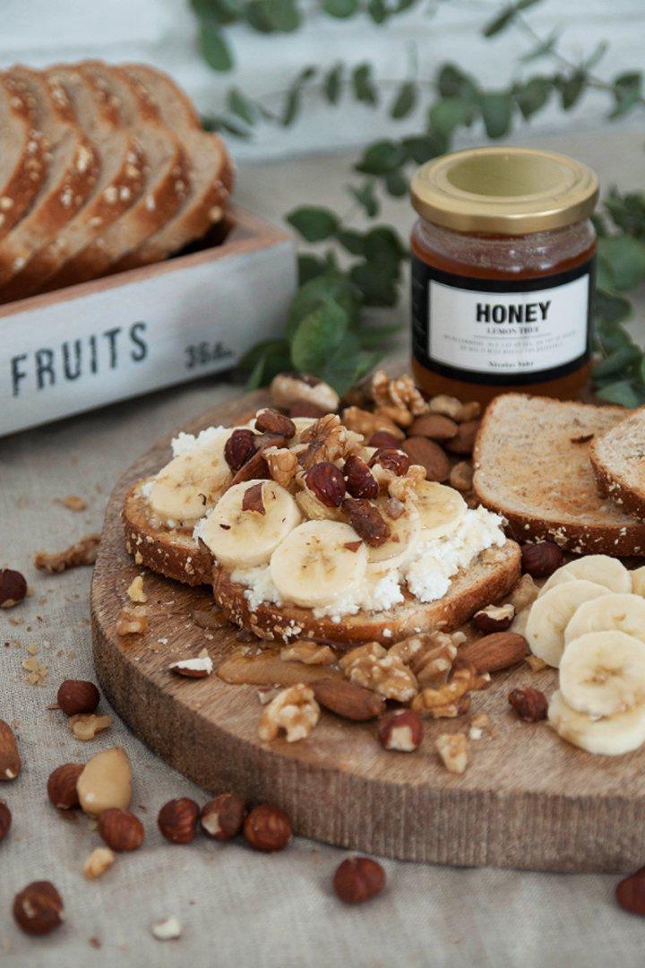 Tostada energética: snacks sanos