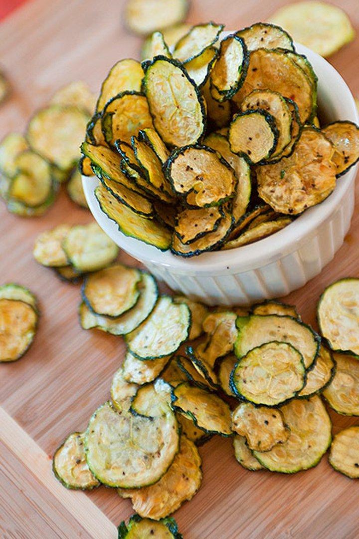 Chips de calabacín: snacks sanos