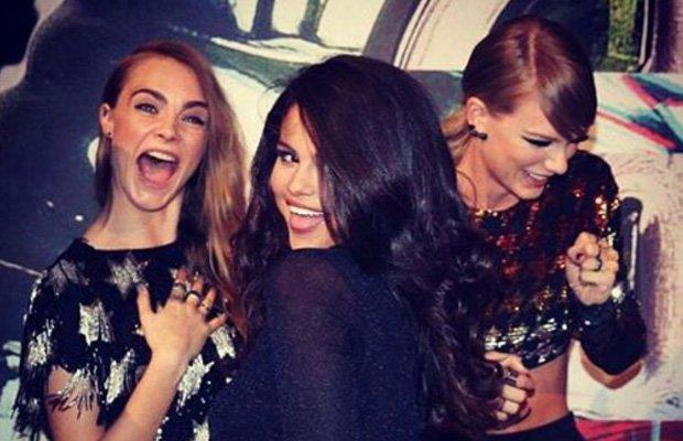 Cara Delevingne, Selena Gomez y Taylor Swift