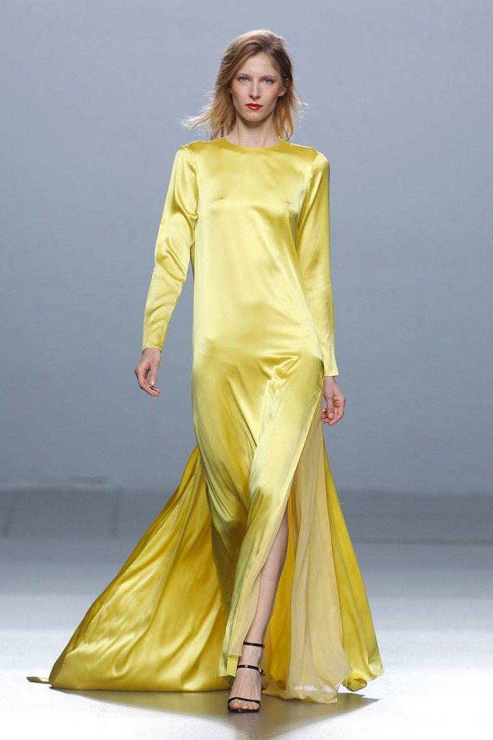 Vestido amarillo The 2nd Skin Co. Otoño/Invierno 2016/2017