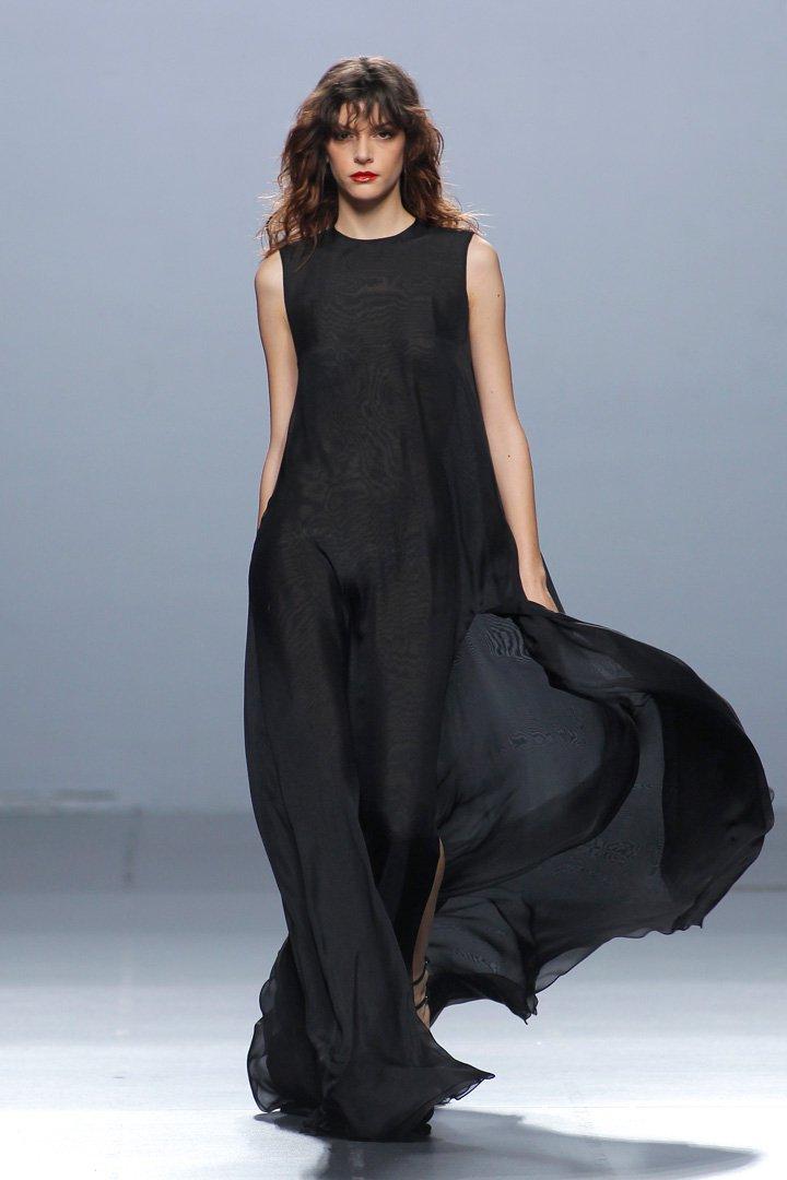Vestido vaporoso negro The 2nd Skin Co. Otoño/Invierno 2016/2017