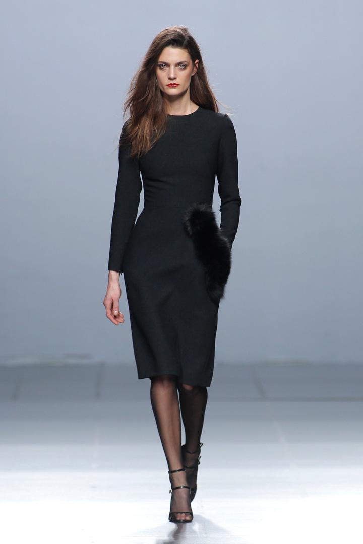 vestido negro The 2nd Skin Co. Otoño/Invierno 2016/2017