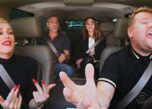 Julia Roberts, George Clooney y Gwen Stefani se dan una vuelta con James Corden