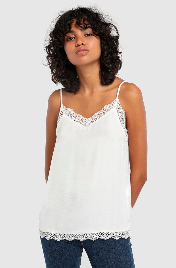 Top lencero blanco de Vila
