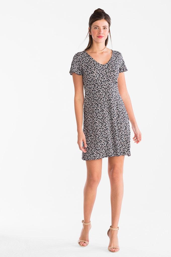 vestido corto estampado C&A