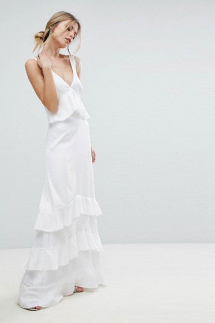vestido novia civil asos volantes