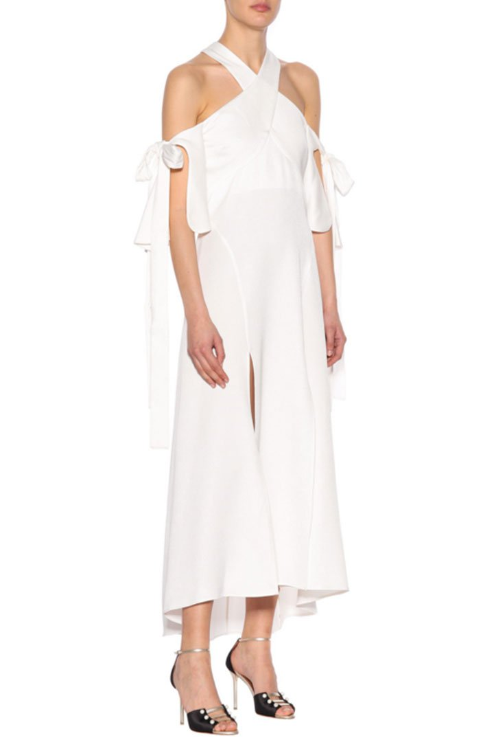 vestido novia civil mytheresa ellery sin hombros