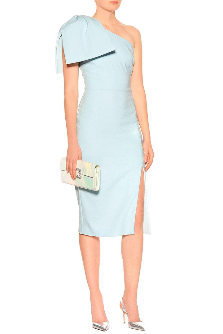vestido novia civil rebecca vallance azul