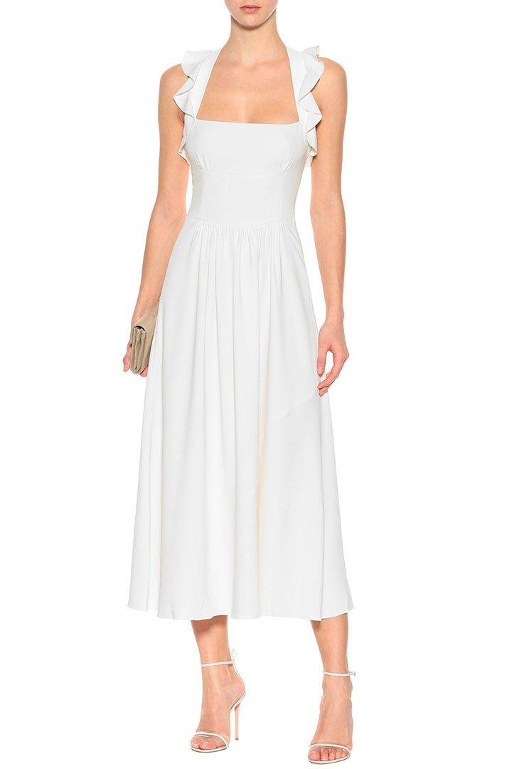 vestido novia civil victoria beckham crepe