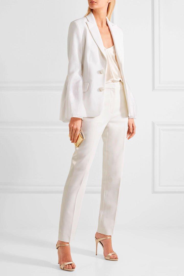 Vestidos de novia de pantalon y chaqueta