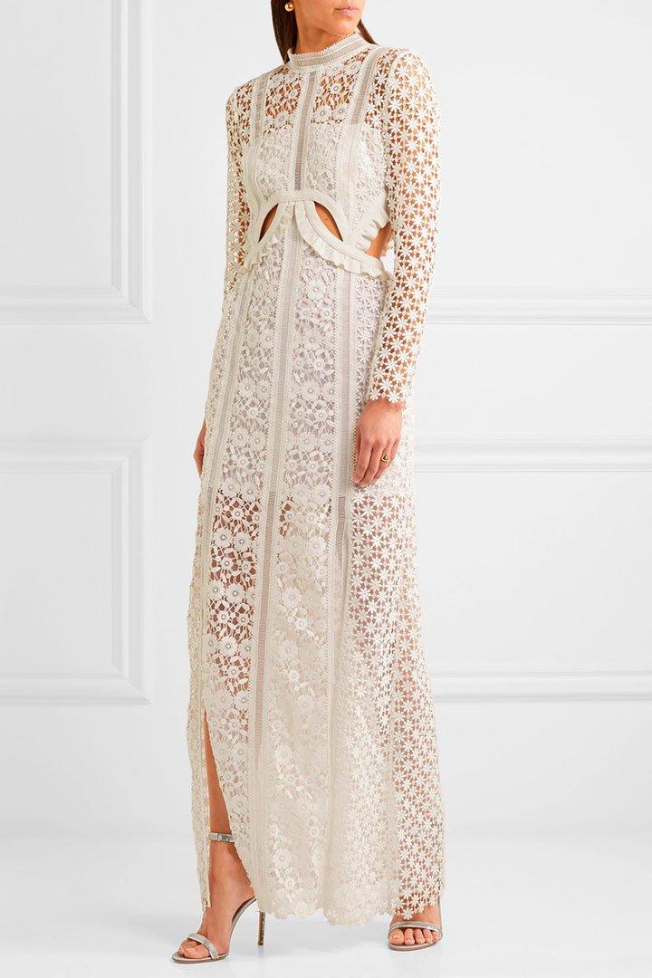 vestido novia civil selfportrait hueso