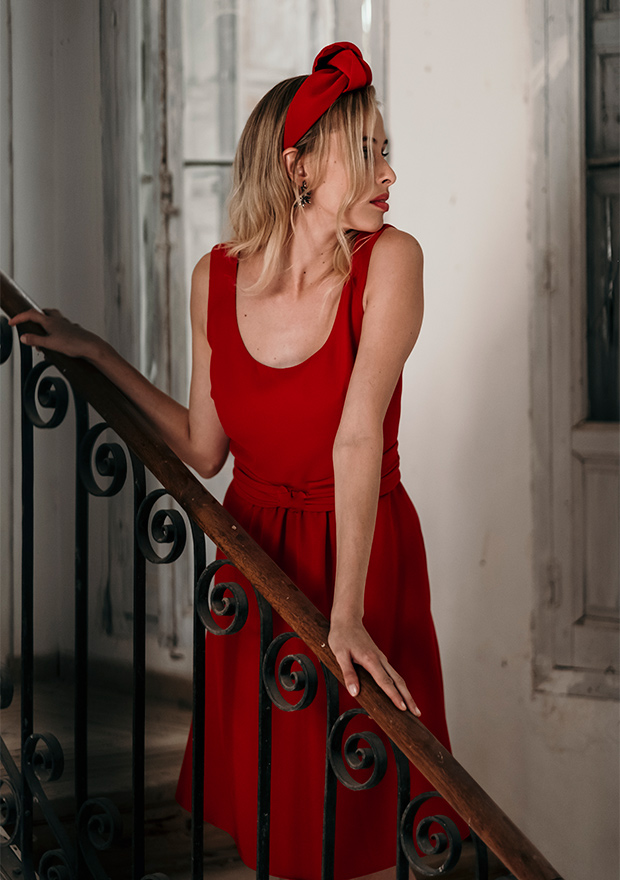 Vestido rojo de Whatever by me