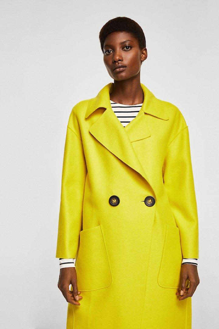abrigo lana desestructurado mango ropa