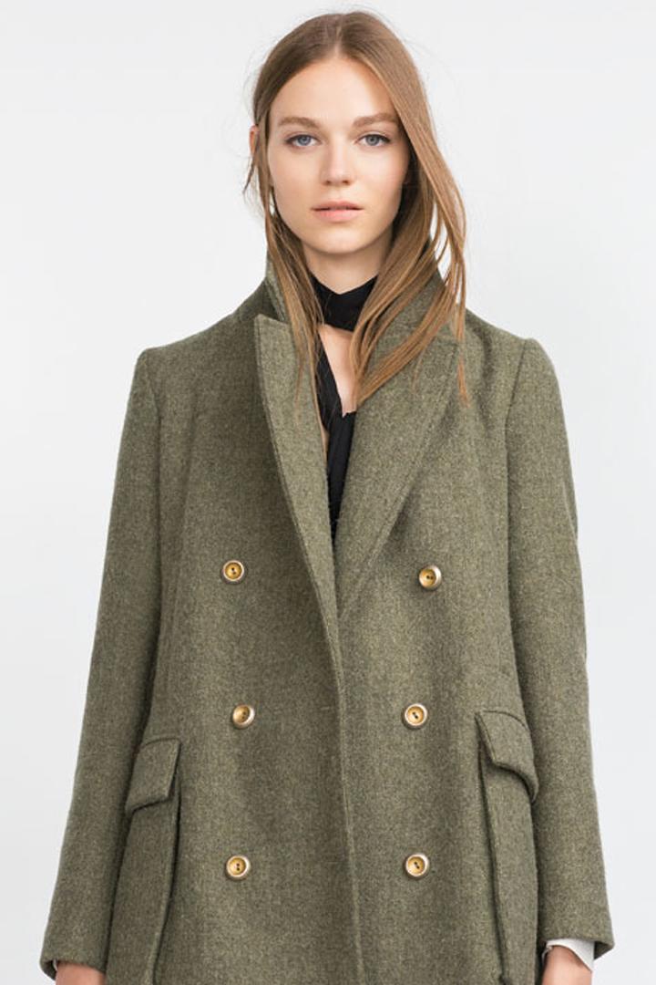 b4dc33bc3d4 abrigo zara verde