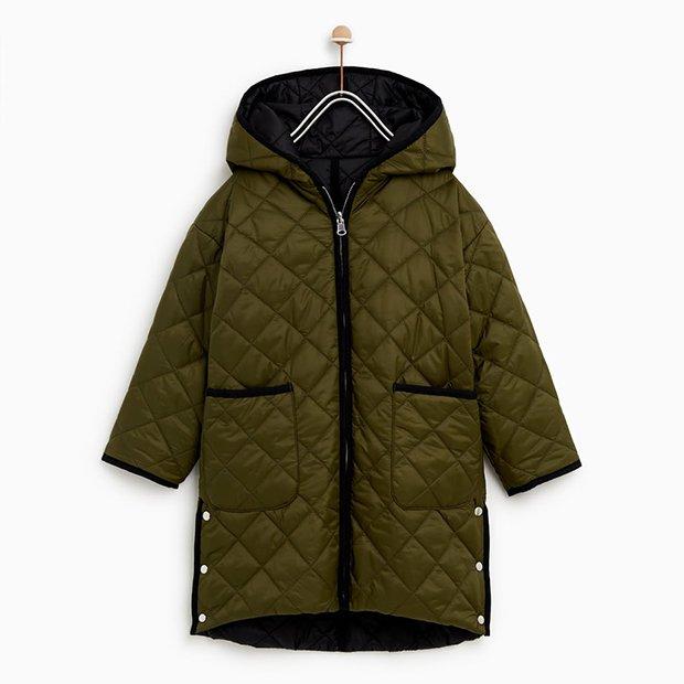 Abrigo verde de Zara Kids invierno 2018
