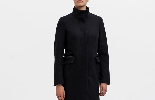 Abrigo negro Esprit otoño 2015