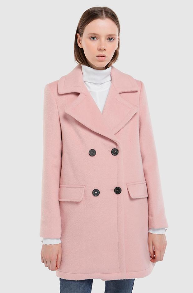 Abrigo rosa de Fórmula Joven