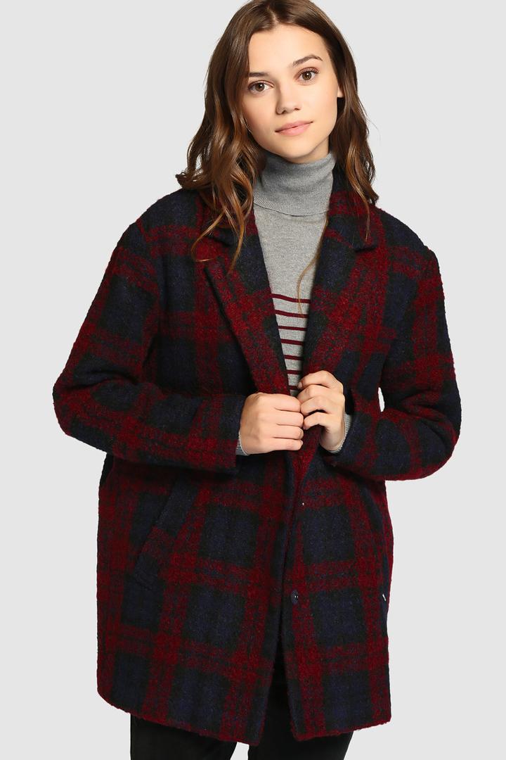 abrigos de invierno 2017, el corte inglés, abrigo de cuadros d Green Coast