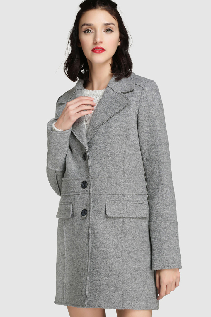 abrigos de invierno 2017, el corte inglés, abrigo gris de paño de fórmula Joven