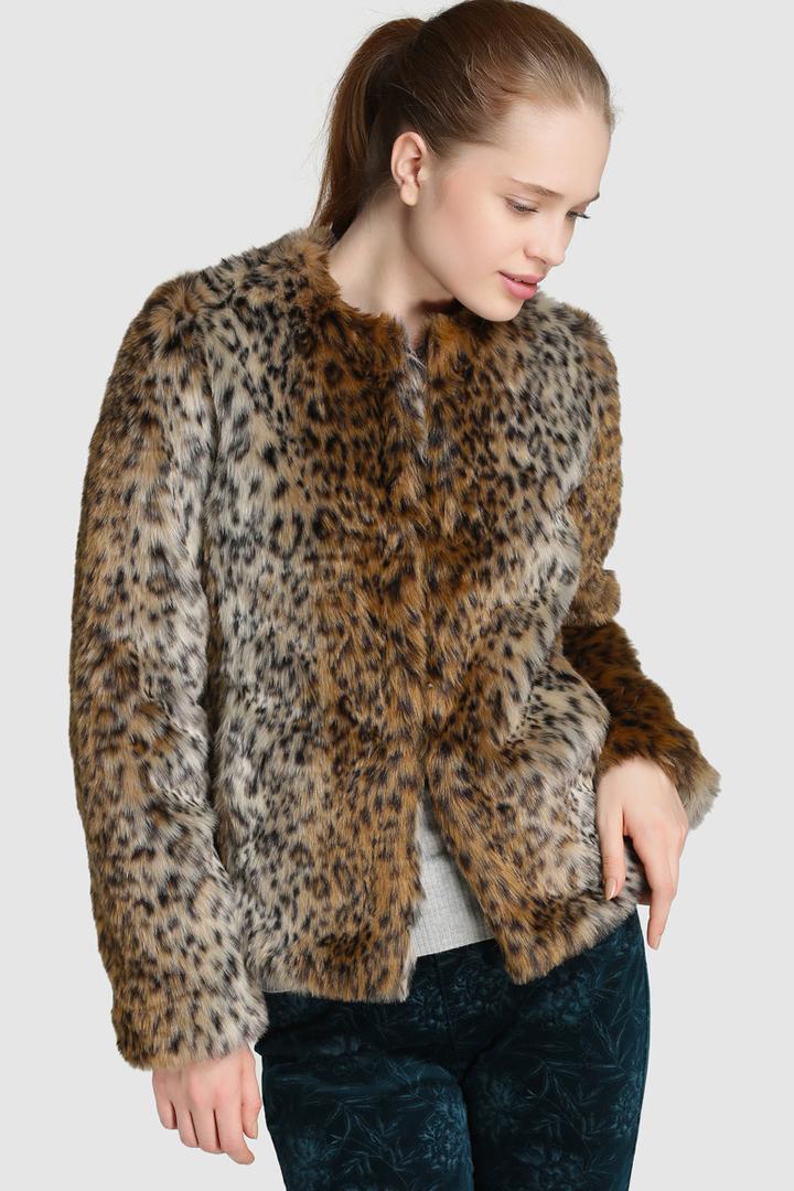 abrigos de invierno 2017, el corte inglés, abrigo de leopardo de fórmula joven
