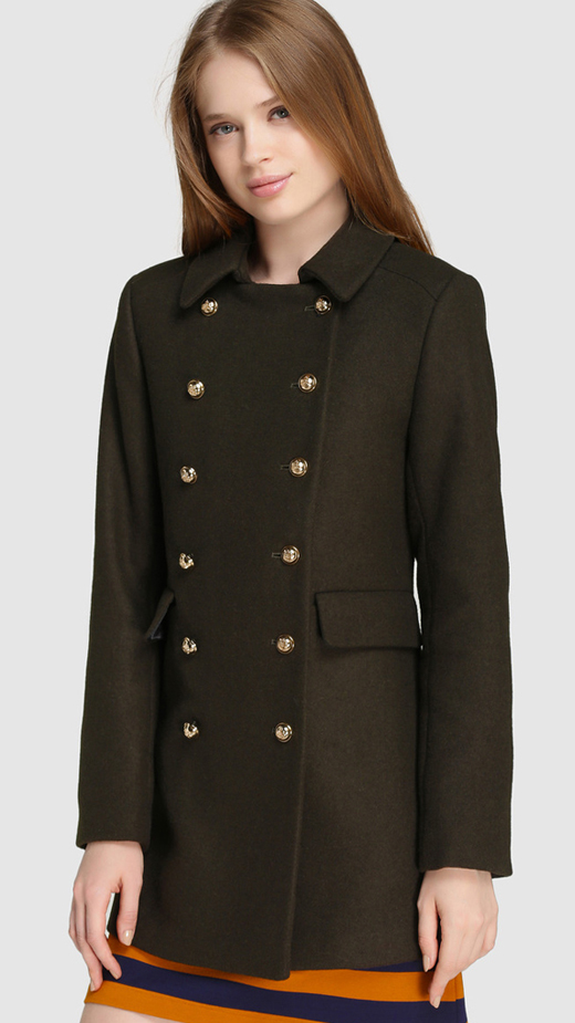 Tendencias de los abrigos de invierno 2017, El Corte Inglés. Abrigo militar de Easy Wear