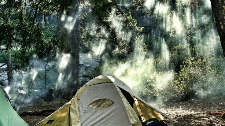 Acampada en el parque de Yosemite