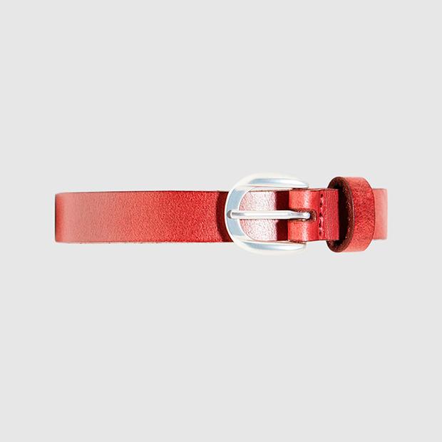 Cinturón fino en rojo