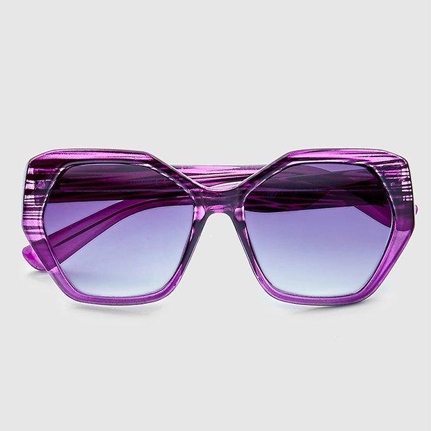Accesorios de invierno 2019: gafas lila