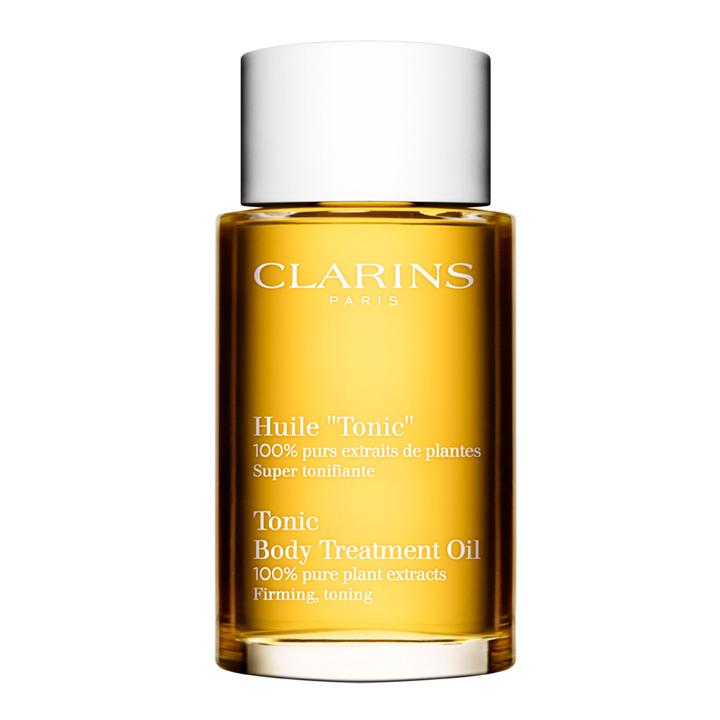 Aceite reafirmante corporal Tonic de Clarins: cosméticos más icónicos
