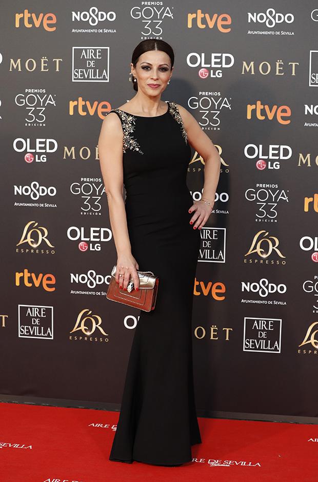 Ana Alvarez en la alfombra roja de los Premios Goya 2019