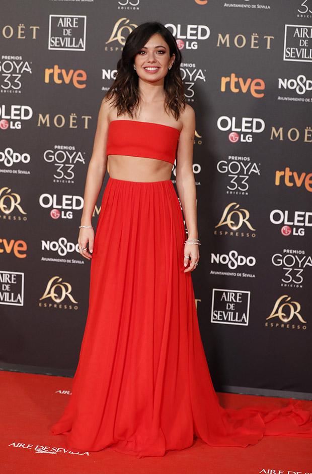 Anna Castillo en la alfombra roja de los Premios Goya 2019
