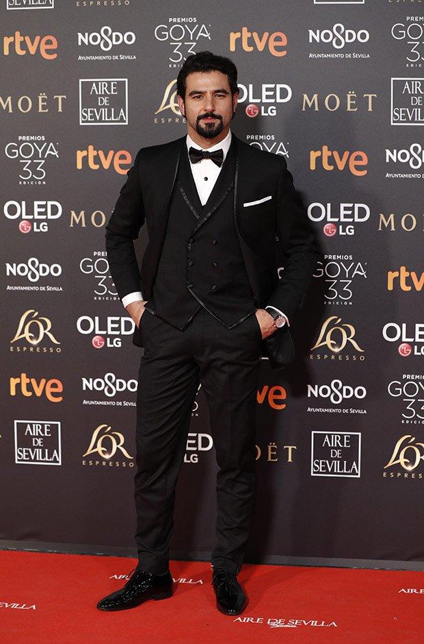 Antonio Velázquez en la alfombra roja de los Premios Goya 2019