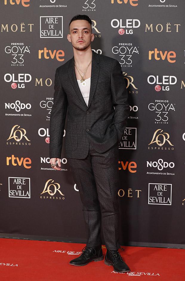 C Tangana en la alfombra roja de los Premios Goya 2019