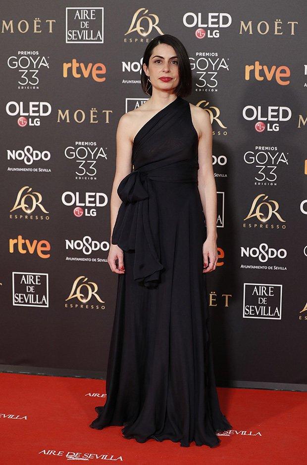 Celia Rico en la alfombra roja de los Premios Goya 2019