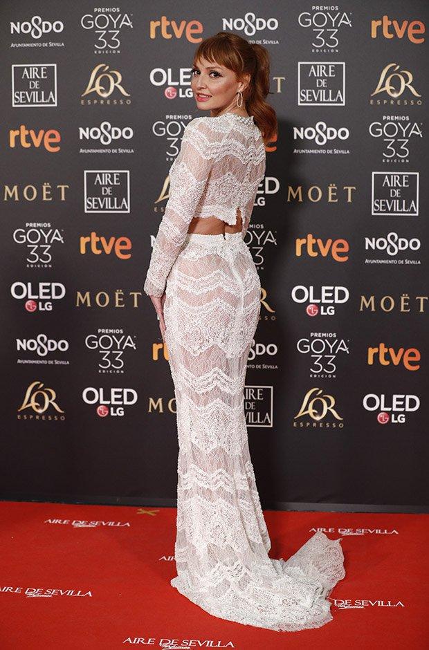 Cristina Castaño en la alfombra roja de los Premios Goya 2019