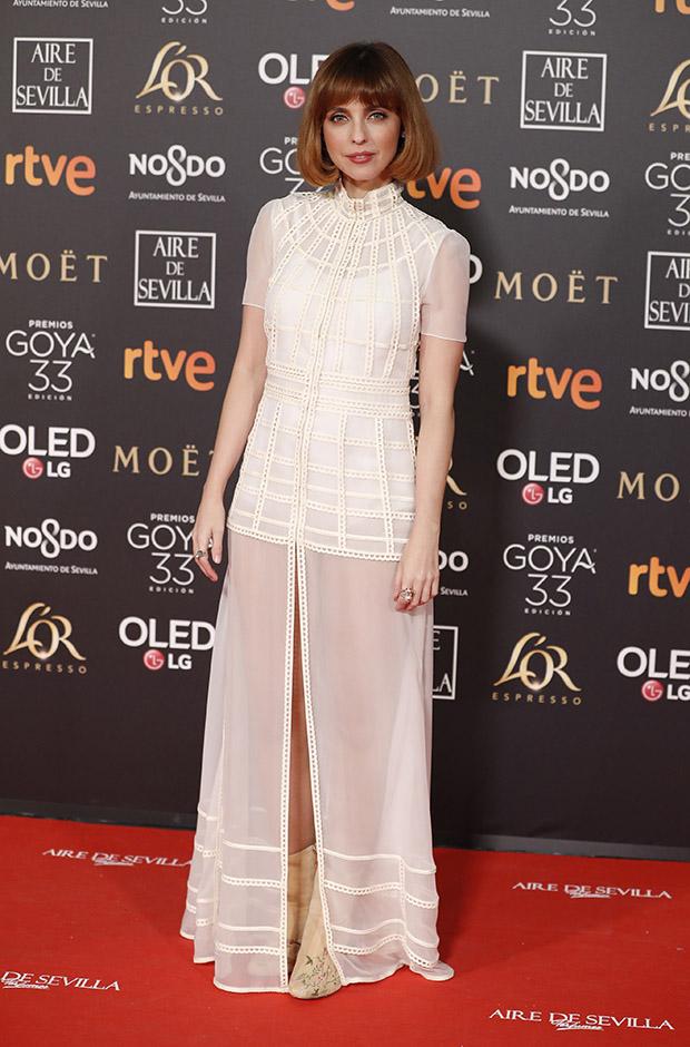 Leticia Dolera en la alfombra roja de los Premios Goya 2019