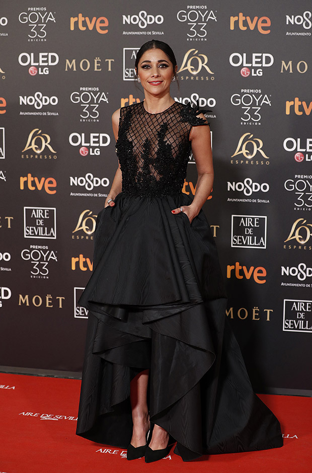 Mariam Hernández en la alfombra roja de los Premios Goya 2019