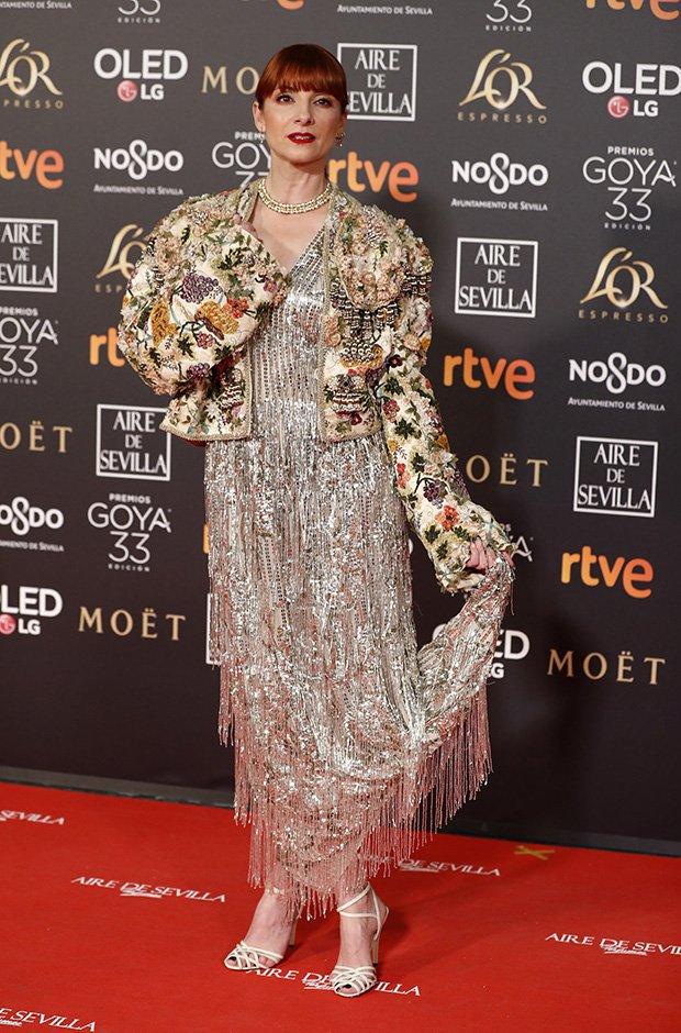 Najwa Nimri en la alfombra roja de los Premios Goya 2019