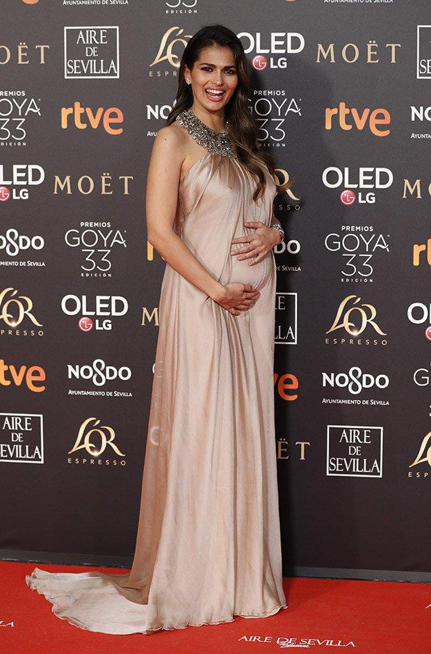 Sara Salamo en la alfombra roja de los Premios Goya 2019