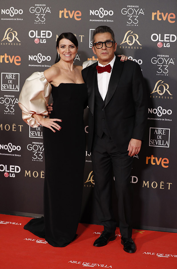 Silvia Abril y Andreu Buenafuente en la alfombra roja de los Premios Goya 2019