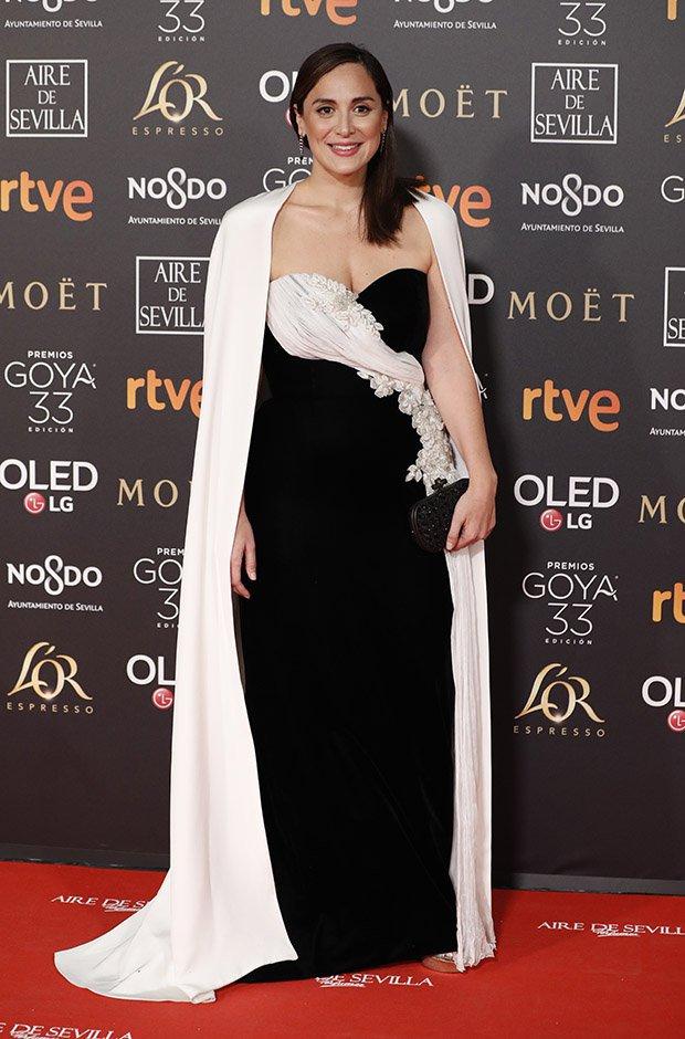 Tamara Falcó en la alfombra roja de los Premios Goya 2019