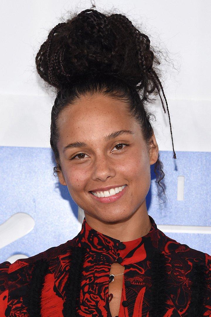 Maquillaje de navidad Alicia Keys