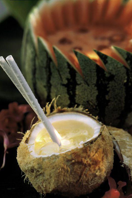 Leche de coco con hielos