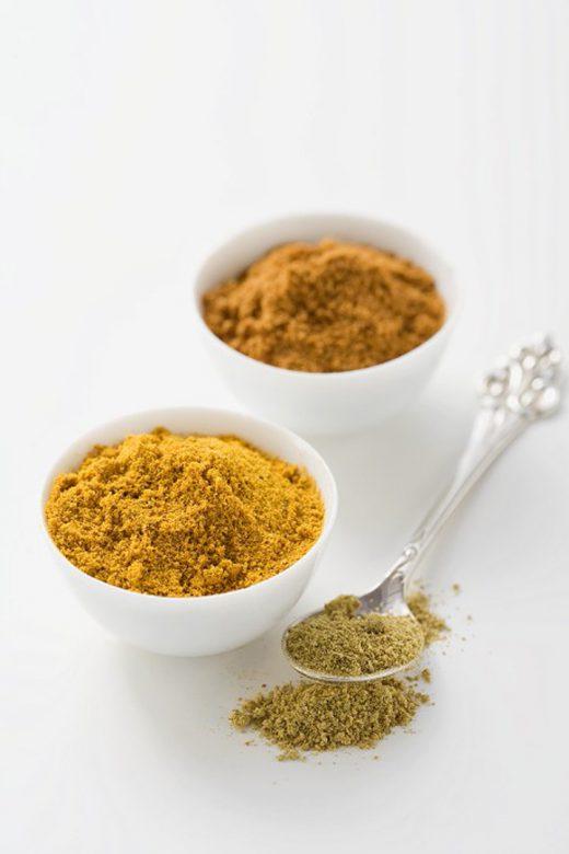 Curry en cuencos