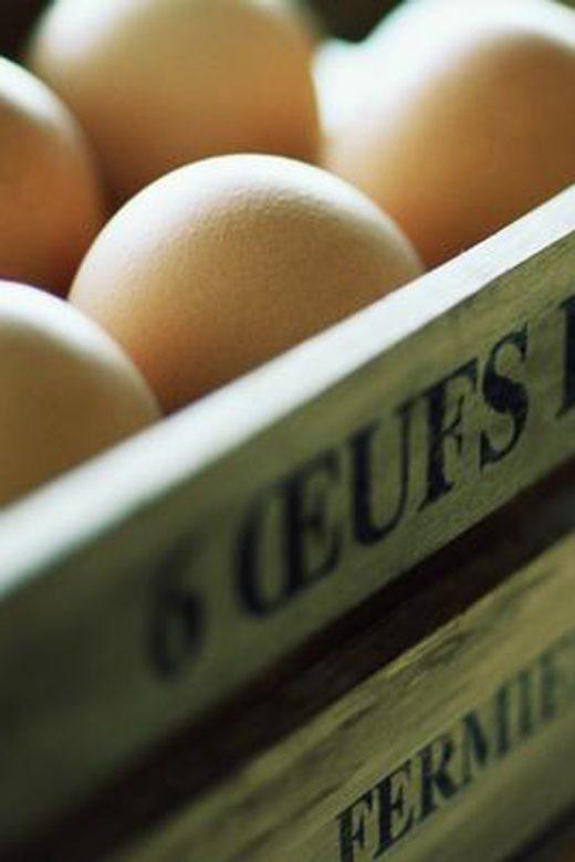 Huevos en una caja
