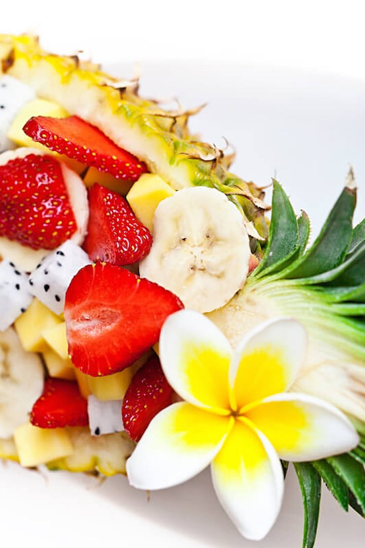 Alternativas al helado: macedonia de frutas