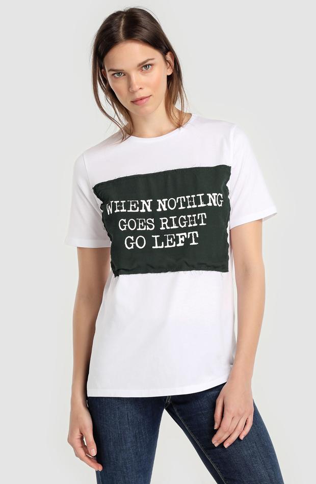 Camiseta con mensaje de Amitié: rebajas looks de otoño