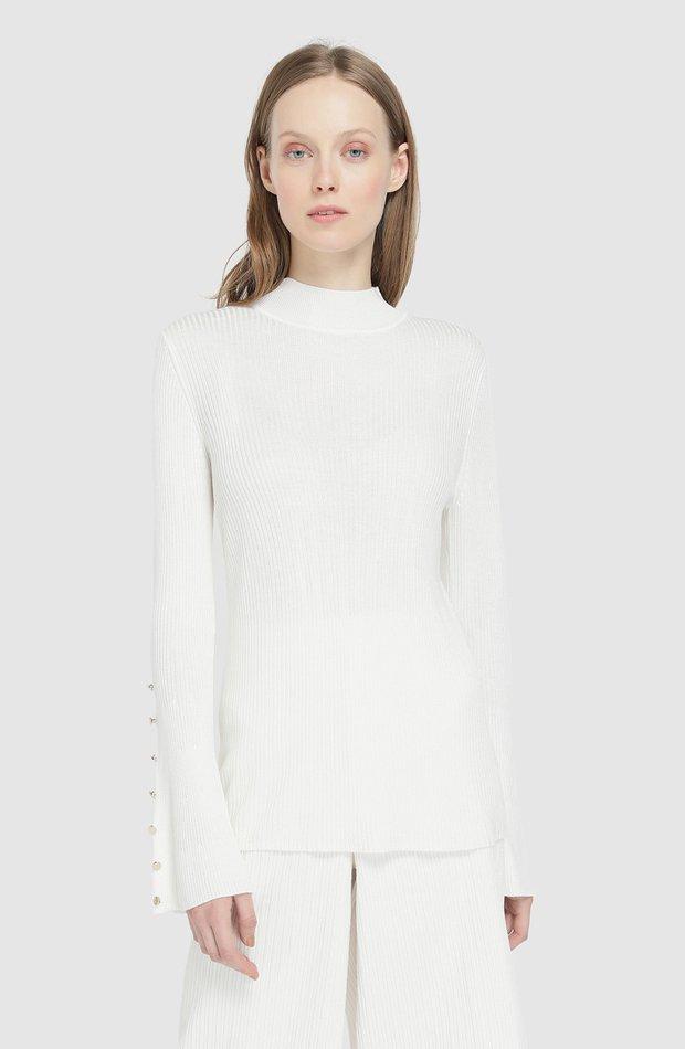 Jersey de canalé con cuello perkins de Amitié: jerséis otoño invierno 2018