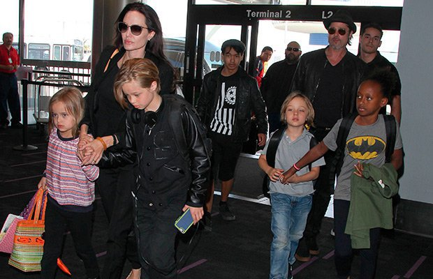 Brad Pitt y Angelina Jolie Familia